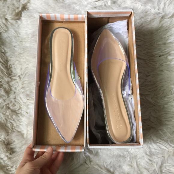 Wild Diva Shoes | Wild Diva Clear Flats